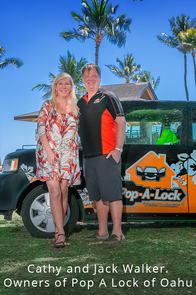 Image o Cathy and Jack Walker, owners of Pop A Lock Oahu.