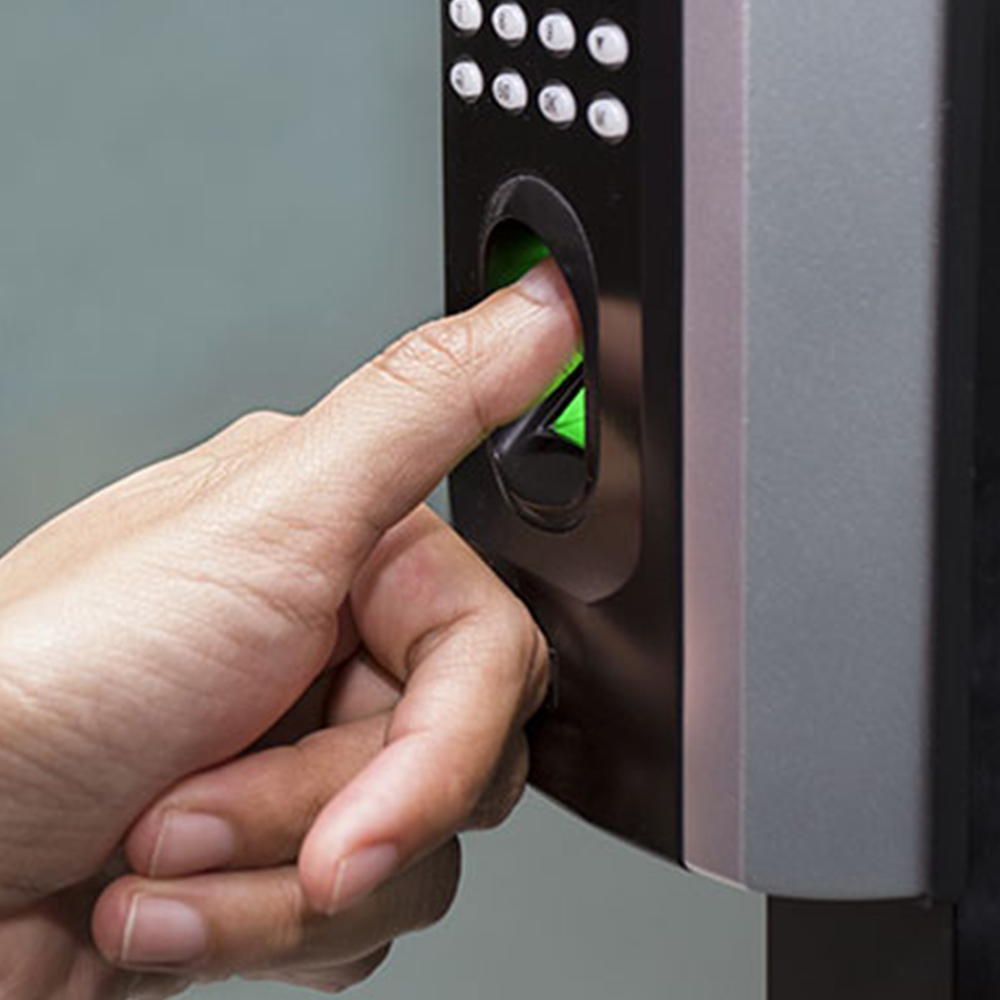 image of person using biometric lock